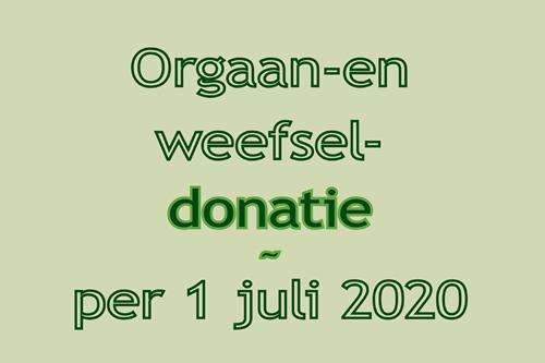 Registratie weefsel- en orgaandonatie